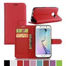 Luxury Card Pouch Stand Folio PU Leather Filp Case Cover For Samsung Galaxy S7