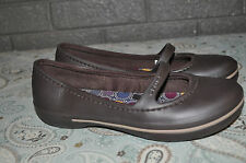 Womens CROCS Brown Mary-Jane Ballet Flats Size 6 EUC