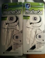 NEW 2 FootJoy WeatherSof Women's Right large Golf Gloves (for LH Golfer)