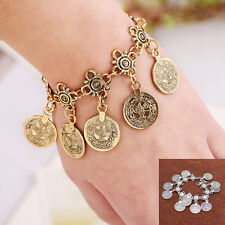 Otantic Turkish Gypsy Antique Silver Color Coin Anklet Foot Jewelry Beach Chain
