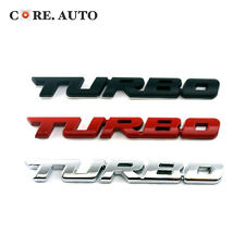 3 Color Turbo 3D Lettering Emblem Badge Car Boot Trunk Tail Sticker