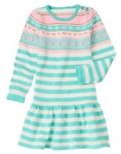 NWT Gymboree Snowflake Glamour sz 4 Fair Isle Striped Sweater dress