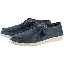 DUDE WALLY PERFORATED SHOE SHOES ORIGINAL BLUE HEY DUDE (PVP IN SHOP 49EUR)