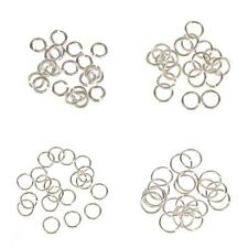 20 Silver Plated Jewellery Jump Rings Assorted 3,4,5,6mm Jewelry Making Findings