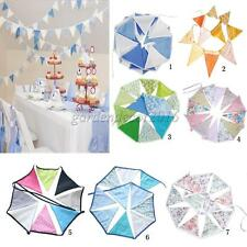 Cotton Bunting Banner Hanging Pennant Triangle Flag Party Indoor/Outdoor Decor