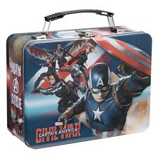 26670 Marvel Captain America Civil War Lunch Box Large Tin Tote Lunch box