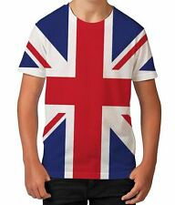 Union Jack Flag Great Britain GB Support Sport Boys Unisex Kids Child T Shirt