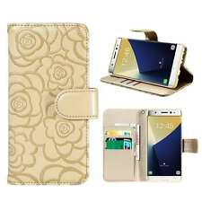 Flip Leather Camellia Pattern Holder Case Card Slot Cover for iPhone/Samsung