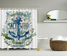 Nautical Anchor Ghost Ship Old Sail Stormy Ocean Legend Vintage Shower Curtain