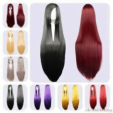 """24""""32""""40"""" Fashion Long Straight Cosplay Anime Party Wig Synthetic Heat Resistant"""