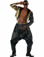 Adult Mens Old School Rapper 80s MC Hammer Fancy Dress Costume Outfit