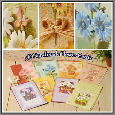 Handmade 3D Stampin Up Flowers Bow Female Mom Sister Birthday Greeting cards