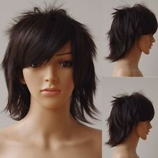 Short Dark Brown Cosplay Wig Synthetic Heat Resistant Anime Party Wigs