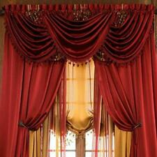 Hyatt WINDOW TREATMENT, window curtain: Panel OR valance,14 color SOLD SEPARATE