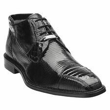 BELVEDERE Mens Black Boot Napoli Lace Up Classic100% Crocodile Lizard Shoes 1479