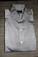 CLUB ROOM MENS WRINKLE RESISTANT PINPOINT DRESS SHIRT GRAY 2 SIZES RP $52.50 NWT
