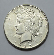 Key Date 1925-S  Peace Dollar Silver Coin 90% SILVER , NO RESERVE !!!!