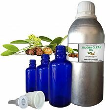 Pure JOJOBA CLEAR OIL, 100% Natural Carrier Oil, Therapeutic Grade 5ml to 250ml