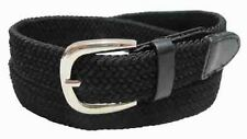 "#501 - 1.25"" WIDE ELASTIC BRAIDED NYLON STRETCH BELT IN BLACK & 6 POPULAR SIZES"