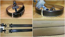 RON CHERESKIN MEN'S LEATHER BELT sizes 48-BRWN, 50-BLACK DRESSY HEAVY TOP STITCH