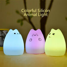 Night lights Wireless LED Human Motion Sensor Cats Battery USB Charged Silicon