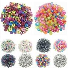100PCS Beads Spacer Cube Acrylic Making Jewelry Letter DIY Loose Random Alphabet