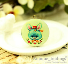1PCS Vintage Baby Rabbit Locket Necklace,  Photo Bunny Locket Pendant HLK136L