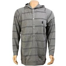 $89.99 Crooks and Castles Stripe Hooded Sweater (heather grey) CC970111HEA