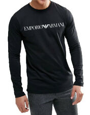 EMPORIO ARMANI Long Sleeve black t-shirt,Body fit, Size M, L, XL