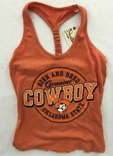 Pressbox Oklahoma State Cowboys NCAA Womens Orange Tank Top - NWT