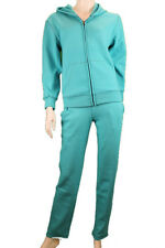 Womens Junior Tracksuit 2 piece set pants sweats hoodie Black Teal Comfy NEW
