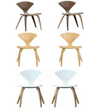 NORMAN CHERNER STYLE NAT WALNUT PLYWOOD ACCENT DINING CHAIR 1 CHAIR OR SET OF 2