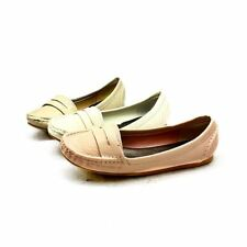 ladies flat loafer style shoes / pumps