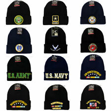 U.S. Military Beanie hat Licensed Cuffed Skull cap - Army,Navy,Air Force,Marine