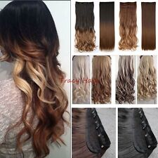 100%Real as human Hair Extensions Ombre Full Head Clip in on Hair Extension H826