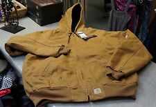 Carhartt Mens Tall Brown Quilt Lined Hooded Coat NWTs