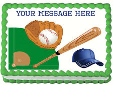 BASEBALL Image Edible Cake topper design