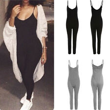Women's Fashion Casual Bodycon Playsuit Summer Long Pants Jumpsuit Club Romper