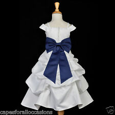 WHITE CHRISTMAS HOLIDAY PARTY TODDLER KIDS WEDDING PAGEANT FLOWER GIRL DRESS 844