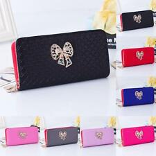 New Women Butterfly Coin Purse Double Zipper Wallet Card Holders Handbag