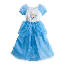 Disney Store Princess Cinderella Deluxe Nightgown 5/6 Costume NEW Gown Dress up