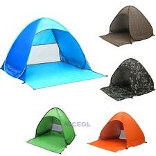 2-3 Person Folding Tent Outdoor Camping Hiking Fishing Beach UV Protection Tent
