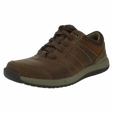 Mens Clark's Ryley Street Tan Combi Lace Up Casual Shoes