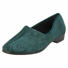 Ladylove Cora Green Ladys Slipper Shoes