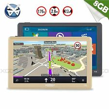 "XGODY 7""SAT NAV Touch Screen 8GB Car GPS Navigation Bluetooth AV-IN Sunshade FM"