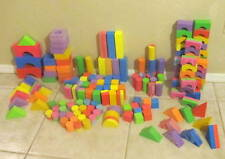 Foam Building Blocks Vibrant Colors Soft and Safe for Preschoolers 175 Pcs
