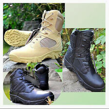 Mens Leather SWAT Army Military Tactical Combat Ankle Boots Work Duty Shoes