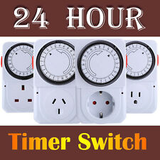 Electrical Energy-saving Programmable 24 Hours Timer Plug Switch Socket New #4A