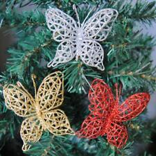 Home Christmas Tree Ornament Butterflies Hanging Baubles Xmas Decoration