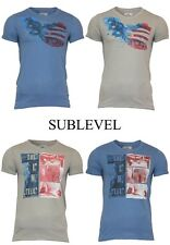 Sublevel T-Shirt with US Pattern Size S,M, L, XL, XXL 4 Colors NEW